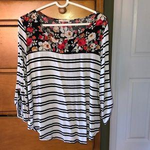 Le Lis long sleeve shirt , size large